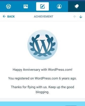 Word Press Anniversary