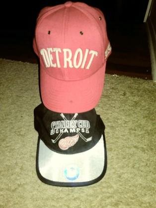 Detroit sport team hats
