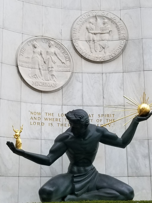 the spirit of Detroit Statue