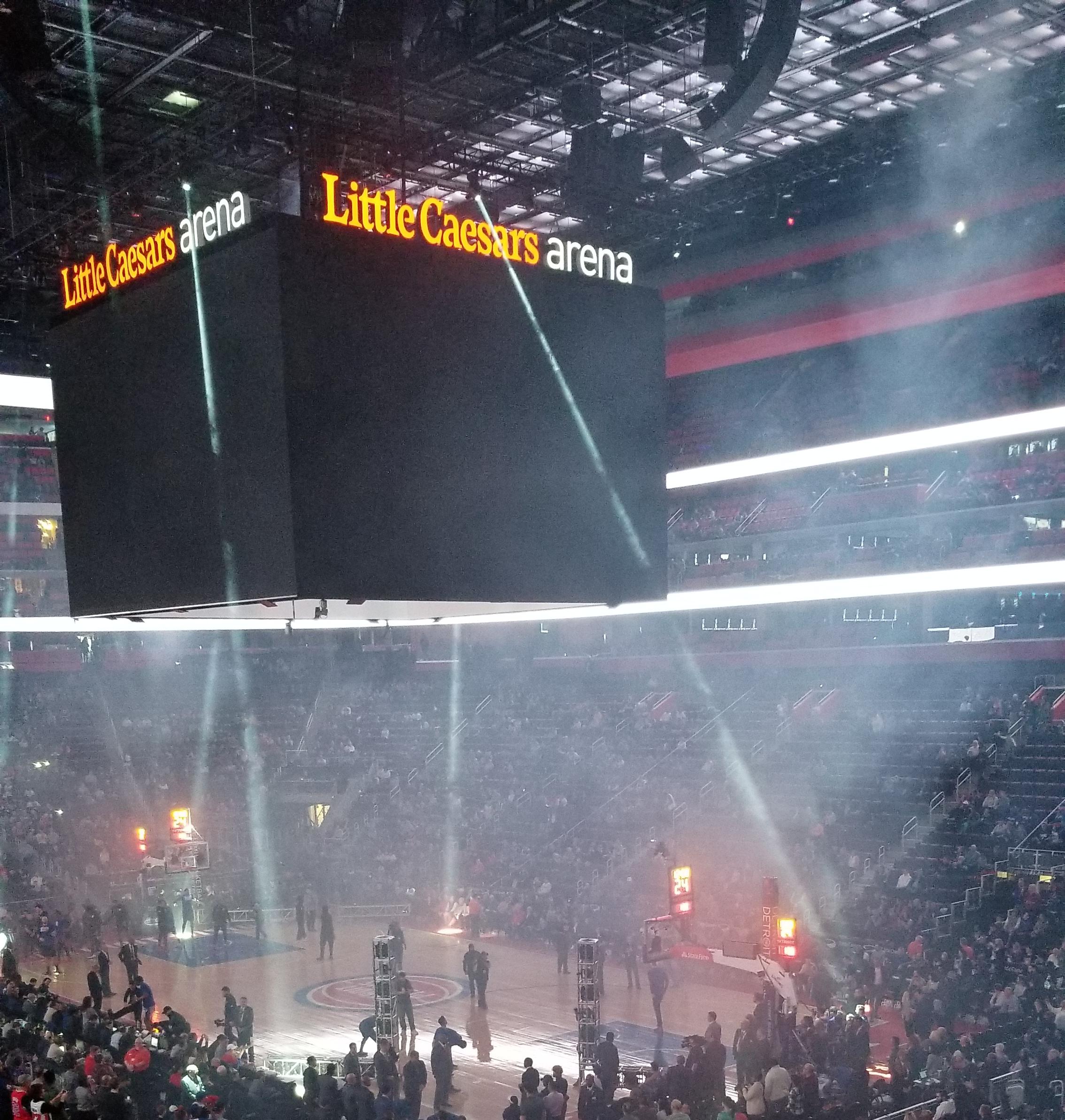 Little Caesars Arena Sign