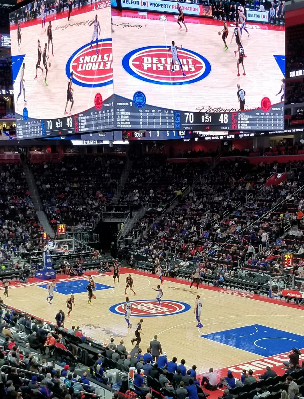 Pistons Scoreboard