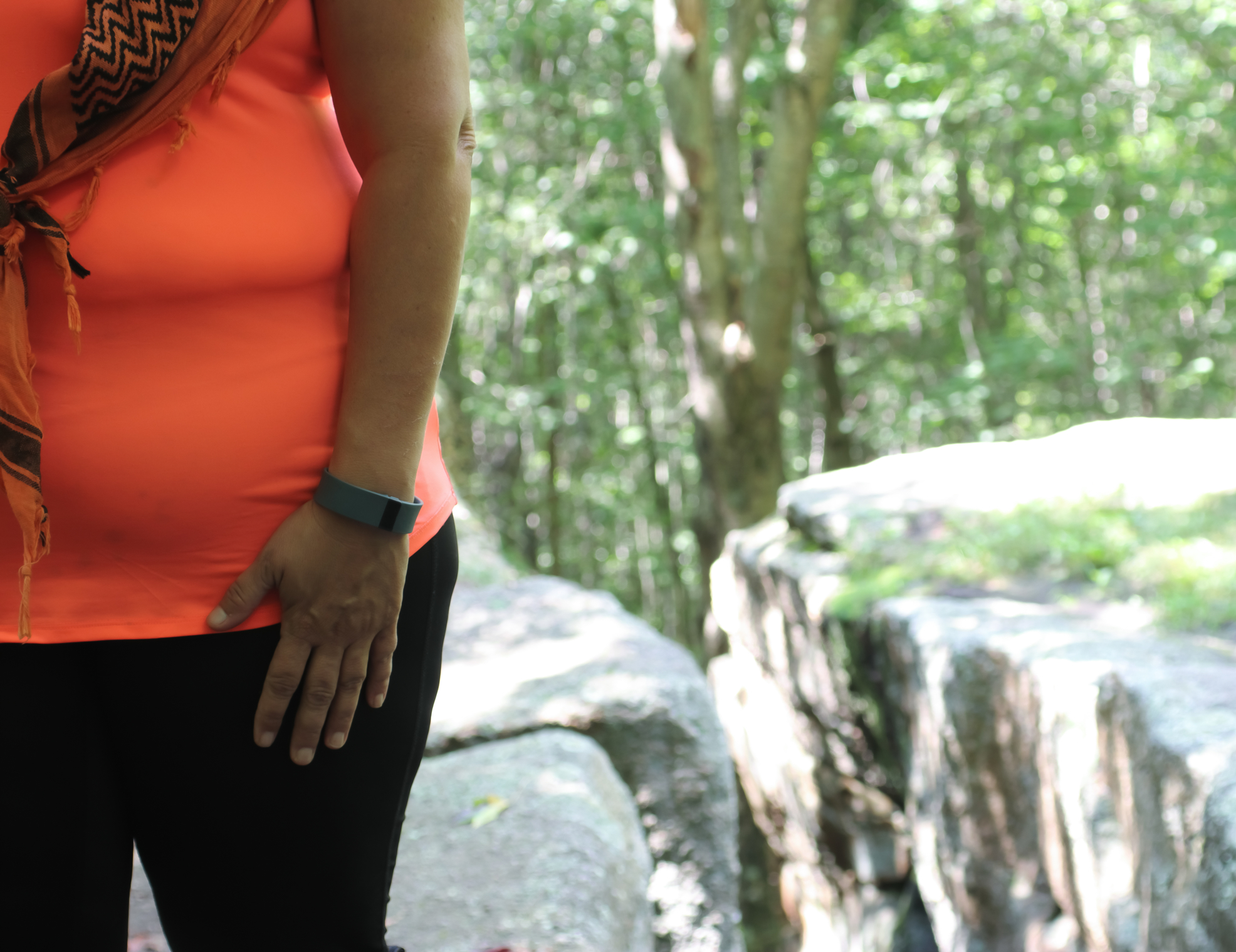 Woman Walking With A Fitbit